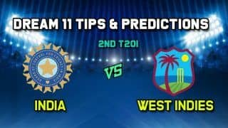 IND vs WI Dream11 Team India vs West Indies, 2nd T20I, West Indies Tour of India 2019
