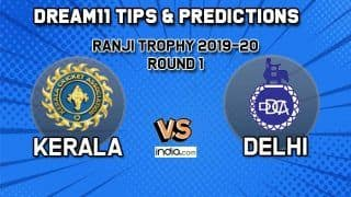 KER vs DEL Dream11 Kerala vs Delhi, Round 1, Ranji Trophy 2019-20 – Cricket Prediction Tips For Today's Match KER vs DEL at St Xavier's College Ground in Thiruvananthapuram December 9