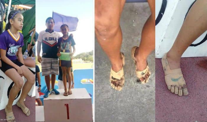 Image result for This 11-Year-Old Athlete Wore Shoes Made Out Of Bandage & Went On To Win 3 Gold Medals