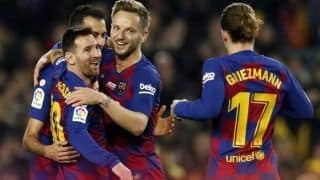 La Liga: Hat-Trick For Lionel Messi as Barcelona Beat Mallorca 5-2; Real Madrid Edge Espanyol 2-1
