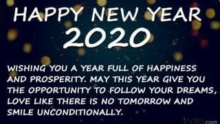 Happy New Year 2020: WhatsApp Status, Facebook Messages, SMS to Wish Your Friends And Family