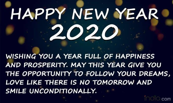 Happy New Year 2020 Whatsapp Status Facebook Messages Sms