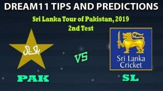 PAK vs SL Dream11 Team Prediction Sri Lanka tour of Pakistan 2019: Captain And Vice-Captain, Fantasy Cricket Tips Pakistan vs Sri Lanka 2nd Test at National Stadium, Karachi 10:15 AM IST
