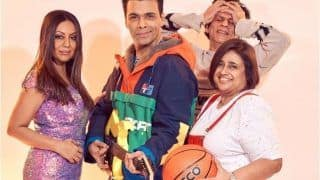 Karan Johar-Gauri Khan Leave Shah Rukh Khan Embarrassed as They Recreate Kuch Kuch Hota Hai Poster
