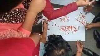 Assam: Shocking Video of Protesters Inking Posters With Blood Surfaces on Social Media
