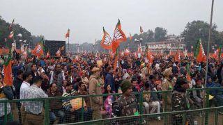 रामलीला मैदानः धन्यवाद रैली के लिए पहुंचे लाखों लोग, थोड़ी देर में होगा पीएम मोदी का संबोधन