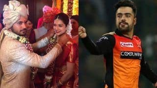 Rashid Khan Congratulates Manish Pandey; Asks Why Was he Not Invited for The Wedding