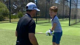 Ricky Ponting Shares Batting Practice Videos With Son Fletcher as he Makes Twitter And Instagram Debut