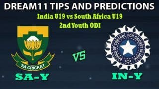 SA-Y vs IN-Y Dream11 Team Prediction India U19 tour of South Africa 2019-20: Captain And Vice-Captain, Fantasy Cricket Tips India Under-19 vs South Africa Under-19 2nd Youth ODI at Buffalo Park, East London 1:00 PM IST