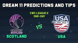 SCO vs USA Dream11 Scotland vs United States of America, Match 2, CWC League 2 One-Day