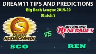 SCO vs REN Dream11 Team Prediction Big Bash League: Captain And Vice-Captain, Fantasy Cricket Tips Perth Scorchers vs Melbourne Renegades Match 7 at Perth Scorchers, Perth 3:40 PM IST