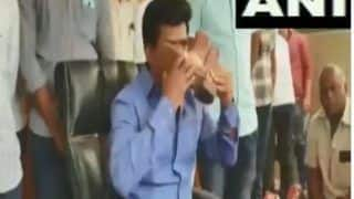 Watch | Andhra MP Kisses Shoe of a Policeman; 'Melodrama', Says Social Media