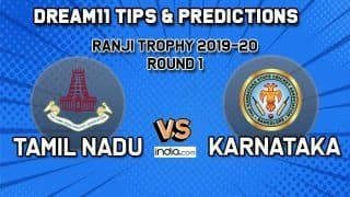TN vs KAR Dream11 Tamil Nadu vs Karnataka, Round 1, Ranji Trophy 2019-20 – Cricket Prediction Tips For Today's Match TN vs KAR at NPR College Ground in Dindigul December 9