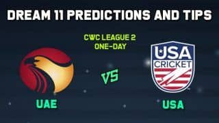 Dream11 Team Prediction United Arab Emirates vs United States of America: Captain And Vice Captain For Today CWC League 2 One-Day Match 4 UAE vs USA at Sharjah Cricket Stadium 11:30 AM IST December 12