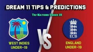 Dream11 West Indies Under-19 vs England Under-19s, WI-U19 vs EN-U19 Match 2,