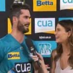 Erin Holland Warns Husband Ben Cutting, 'Play Well Or Don't Come Home' After Brisbane Heat Beat Hobart Hurricanes in BBL Clash | WATCH VIDEO