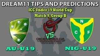 AU-U19 vs NIG-U19 Dream11 Team Prediction Under 19 World Cup 2020: Captain And Vice-Captain, Fantasy Cricket Tips Australia U19 vs Nigeria U19 Match 9, Group B at Country Club B Field, Kimberley 1:30 PM IST