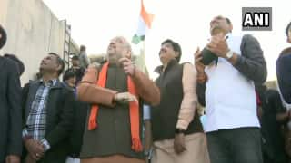 Watch | Home Minister Amit Shah Flies Kite, Releases Saffron Balloons on Makar Sankranti