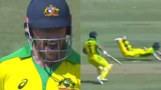 India vs australia 3rd odi steve smith runs out aaron finch twitter finds it funny 3914722