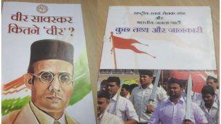 कांग्रेस ने बांटा विवादित साहित्य, गोडसे व सावरकर को बताया समलैंगिक, BJP ने बोला हमला