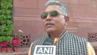 Dilip Ghosh Sticks by His Hateful Statement, Repeats 'Will Shoot Protestors'