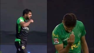 After Melbourne Stars' Haris Rauf's Cut-Throat Celebration Gets Banned in BBL, Pakistan Pace Sensation Comes up With Something Brand New | WATCH VIDEO