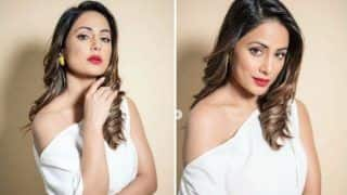 Hina Khan Ups The Glam Quotient in One-shoulder White Dress And Floral Heels For Hacked Promotions