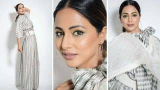 Hina Khan Looks Mesmerising in Grey-White Gown in Latest Hot Pictures, Stuns Fans With Her Stylish Avatar