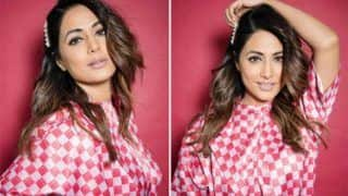 Hina Khan Flaunts Her Sartorial Choice in Stunning White-pink Outfit For Hacked Promotions