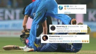 ICC Makes Goof-up With Sri Lanka Hashtag; Uses #IndvSA Instead of #IndvSL, Gets Trolled | POSTS