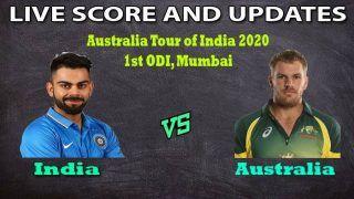 India vs Australia 1st ODI, Live: Kohli And Finch's Team Resume Mouth-Watering Rivalry