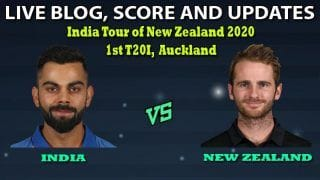 India vs New Zealand 2020 Live Cricket Score, 1st T20