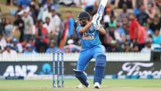 5th T20I: Rohit Sharma's Half-Century Guides India to 163/3 vs NZ