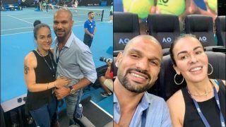Shikhar Dhawan-Aesha Mukherjee Spotted at Australian Open 2020 Watching Dominic Thiem-Alexander Zverev Semi-Finals | SEE PIC