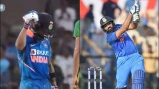 Ind vs Aus: Virat Kohli Celebrating Rohit Sharma's Six at During Third ODI at Bengaluru is Unmissable | WATCH VIDEO