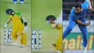 Ind vs Aus: Mohammed Shami Removes Pat Cummins, Ashton Turner With Yorkers in Consecutive Balls at Rajkot in second ODI | WATCH VIDEO