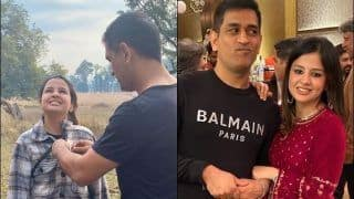 MS Dhoni's Loving Gesture Towards Sakshi is a Little Too Mushy | SEE PIC