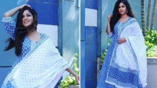 Bepanah Pyaar Fame Ishita Dutta Rocks Her Look in Blue Ethnic Wear, Her Contagious Smile Will Steal Your Heart