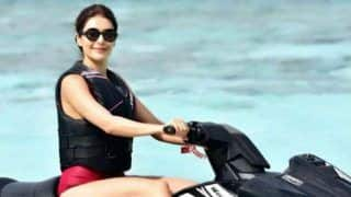 Karishma Tanna Gives Major Vacay Goals as She Jet Skis in Hot Monokini in Maldives