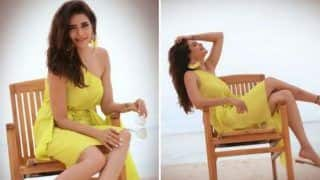Television Hottie Karishma Tanna Makes Fans Heart go Aflutter in Yellow Dress as She Vacays in Maldives