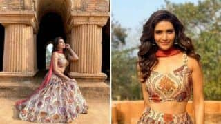 Karishma Tanna Takes Break From Maldives Pictures, Shares Hot Photoshoot in Beige Floral Lehenga