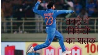Indvaus kuldeep yadav becomes the fastest indian spinner to claim 100 wickets in one day internationals 3913492