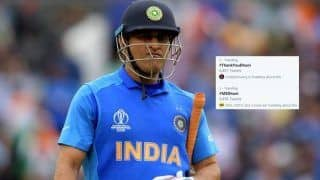 Is it Too Early to Trend #ThankYouDhoni?