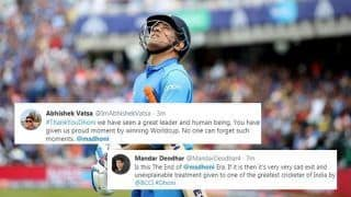 MS Dhoni Fans Get Emotional After Thala Gets Dropped From BCCI's Annual Contract List | POSTS