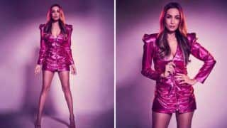 Malaika Arora Turns on The Heat With Her Sultry Pictures in Little Metallic Hot Pink Dress