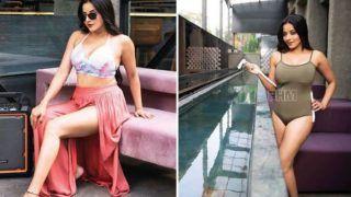 Bhojpuri Sizzler Monalisa Flaunts Her Washboard Abs in Sexy Monokini For Magazine Photoshoot