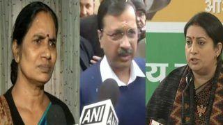 Delhi CM अरविंद केजरीवाल के बयान पर निर्भया की मां ने उठाए सवाल, स्मृति ईरानी ने किया हमला