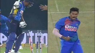 India vs Sri Lanka: Navdeep Saini's 147.5 Kmph Yorker to Castle Danushka Gunathilaka During Second T20I at Indore is Unmissable | WATCH VIDEO