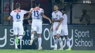 Indian Super League 2019-20: Nerijus Valskis Brace Guides Chennaiyin FC to Easy Win Over Hyderabad FC