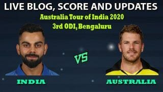 India vs Australia 2020, 3rd ODI Live Cricket Score: Bengaluru Gears Up For Series Finale